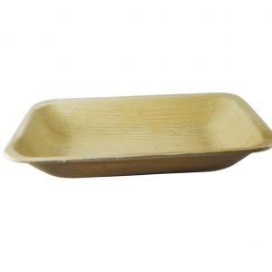 Rectangle Areca Palm Plate 9 by 6 inches