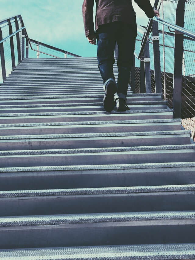 walk the stairs