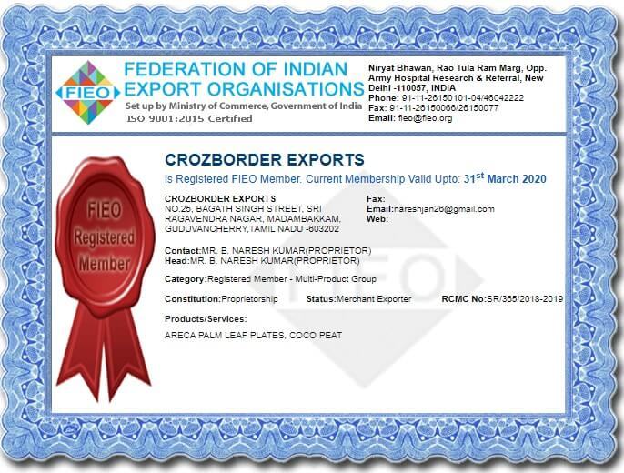 CrozBorder Exports is a FIEO member.